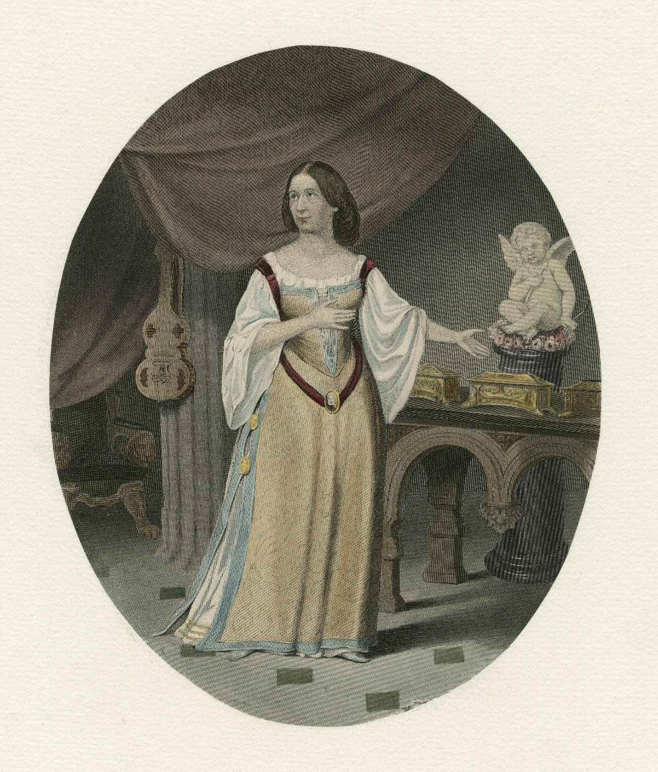 [Unidentified actress in the role of Portia, in Shakespeare's Merchant of Venice] [graphic].