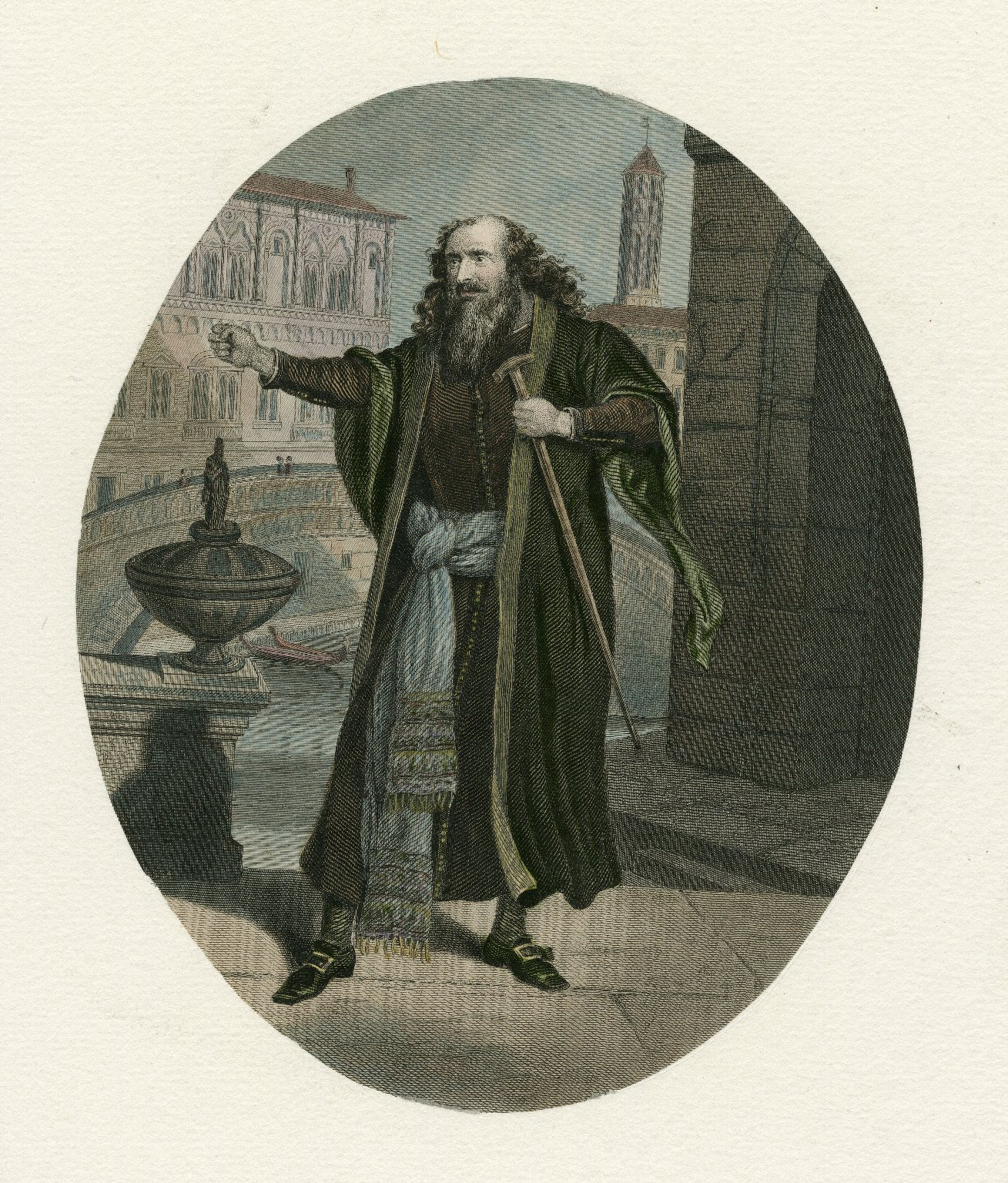 [Unidentified actor in the role of Shylock in Shakespeare's Merchant of Venice] [graphic].
