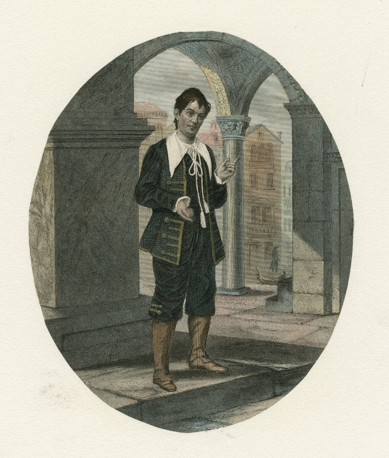 [Unidentified actor in the role of Launcelot Gobbo in Merchant Of Venice] [graphic].