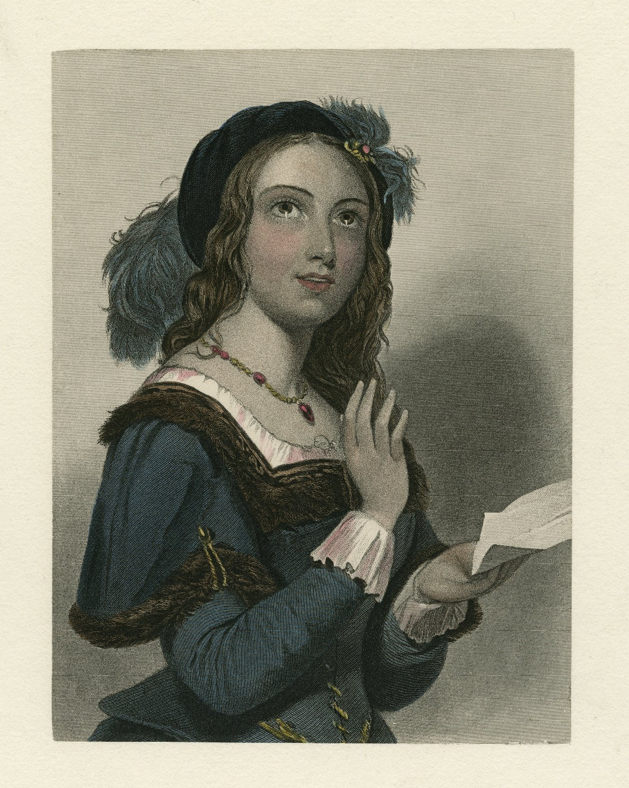 Mrs. Page [character in Shakespeare's] Merry wives of Windsor [graphic] / J.W. Wright ; W.H. Egleton.
