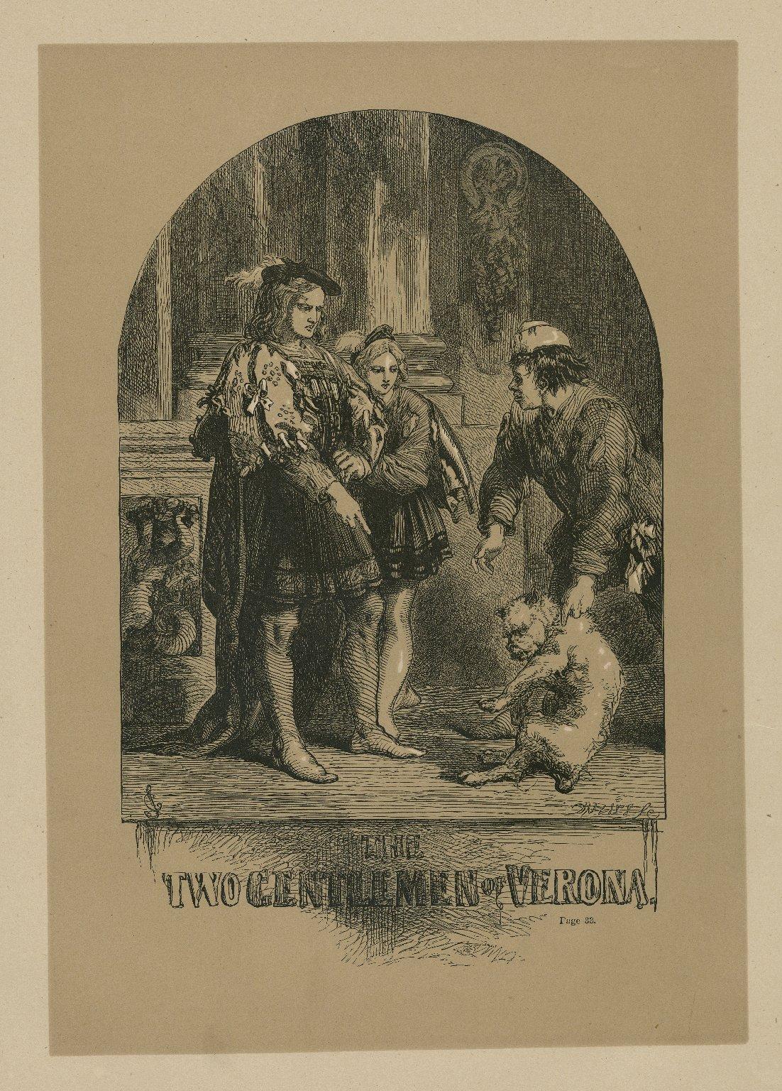 The two gentlemen of Verona [act IV, scene 4] [graphic] / JG ; Dalziel, sc.