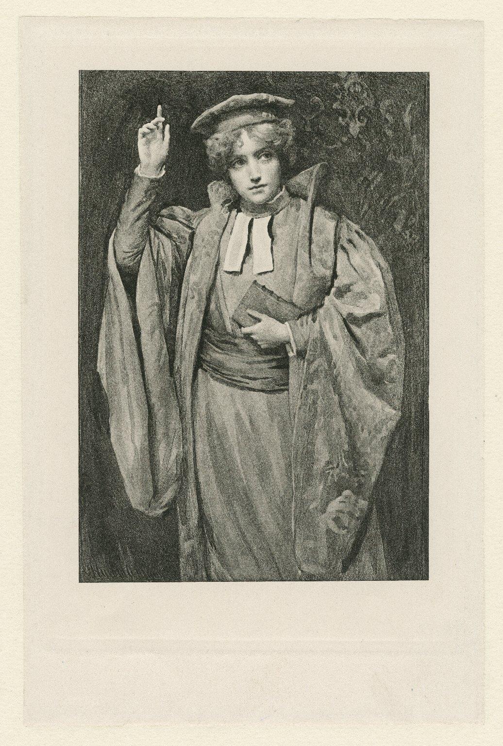 [Ellen Terry as Portia, in Shakespeare's Merchant of Venice] [graphic] / Harold Copping.