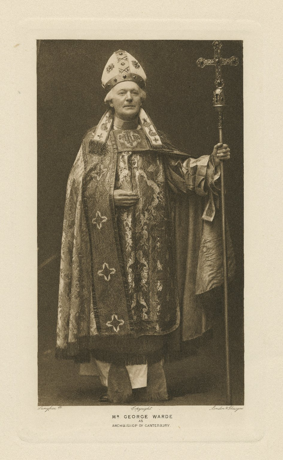 Mr. George Warde as Archbishop of Canterbury [in Shakespeare's King Henry V] [graphic] / Langfier Lt.