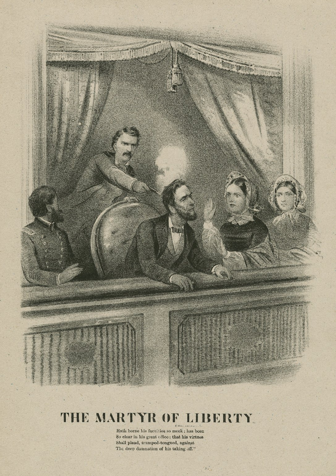 The Martyr of liberty ... [John Wilkes Booth shooting Lincoln] [graphic].
