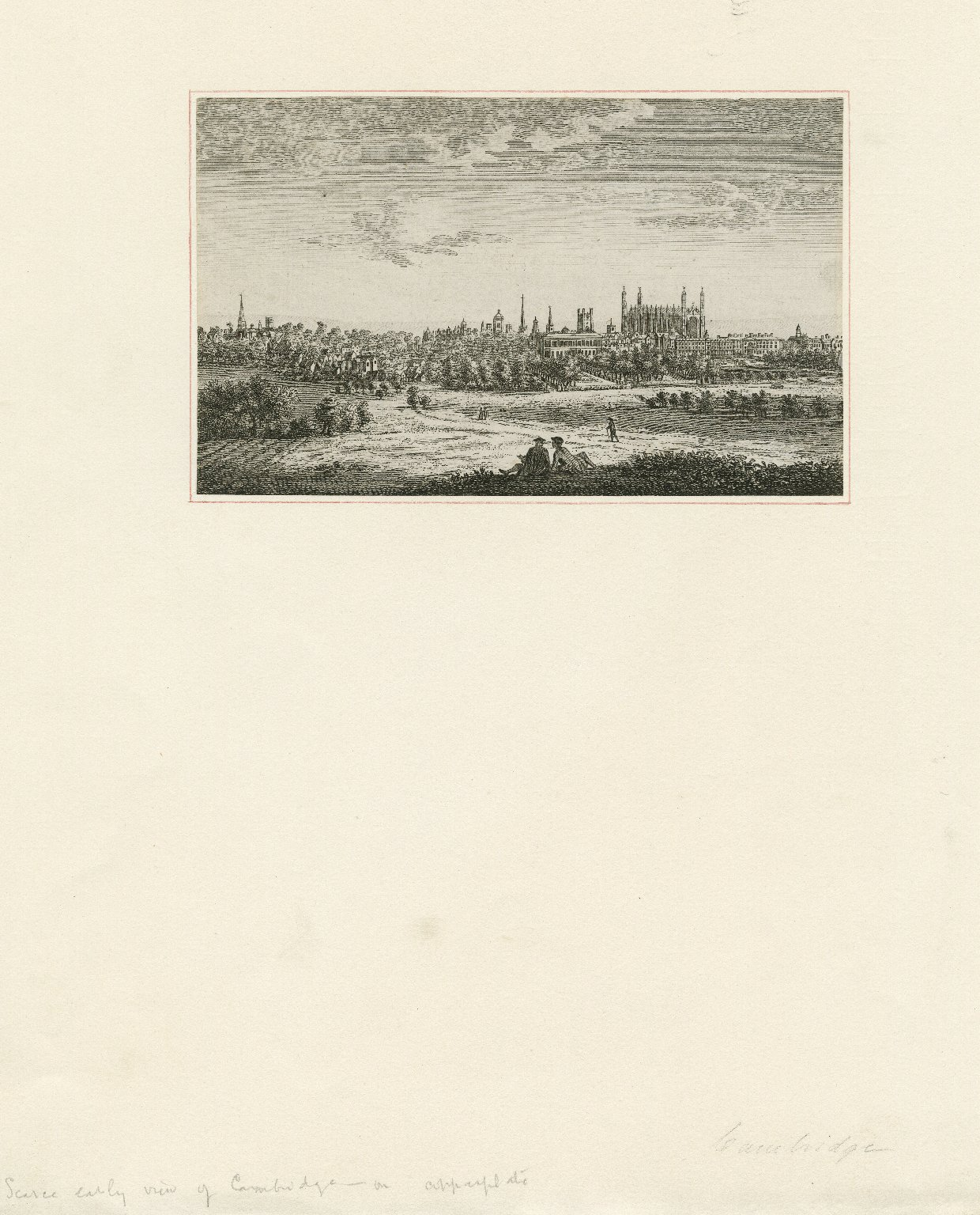 [Early view of Cambridge] [graphic].