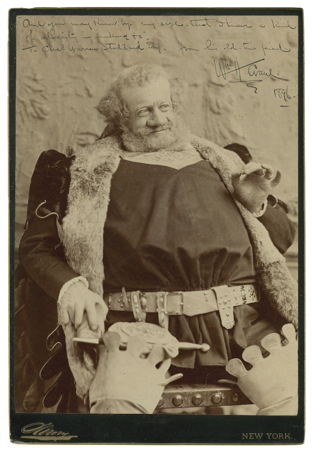 [William H. Crane as Falstaff, in Shakespeare's Merry wives of Windsor] [graphic] : And you may know by my size that I have a kind of alacrity in sinking, 1896 / Sarony.