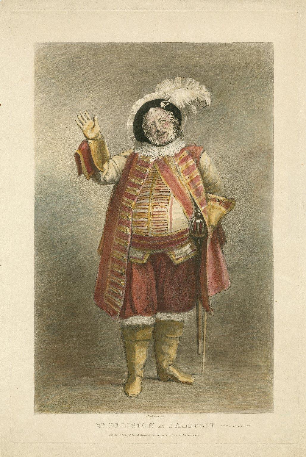 Mr. Elliston as Falstaff, 1st part Henry IVth [graphic] / T. Wageman, fecit.
