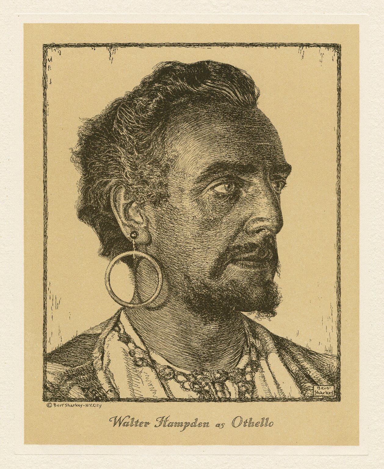 Walter Hampden as Othello [graphic] / Bert Sharkey.