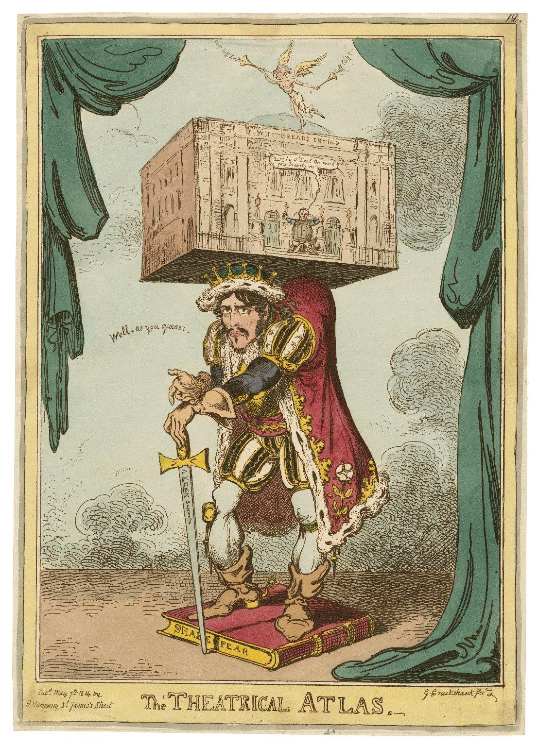 The theatrical atlas [graphic] / G. Cruikshank fec.
