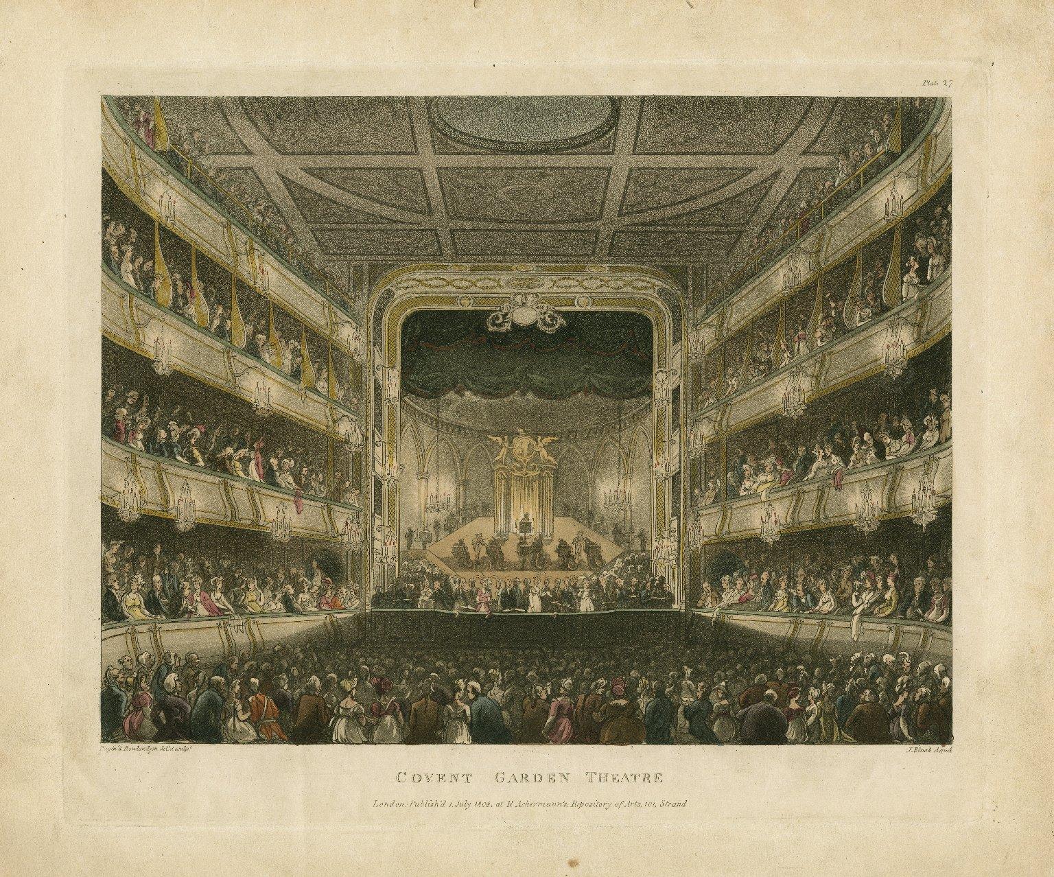 Covent Garden Theatre [graphic] / Pugin & Rowlandson delt. et sculpt. ; J. Bluck, aquá.