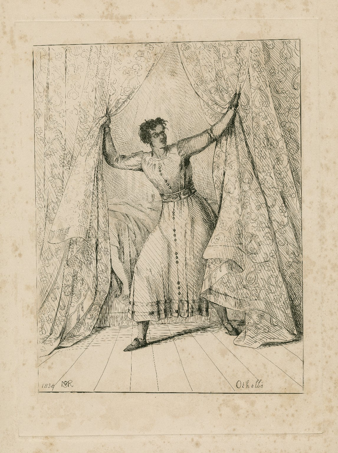 Dramatic recollections of the years 1838-9, no.1 [scenes from plays in which W. C. Macready acted] [graphic] / drawn and etched from memory by M.S.R.