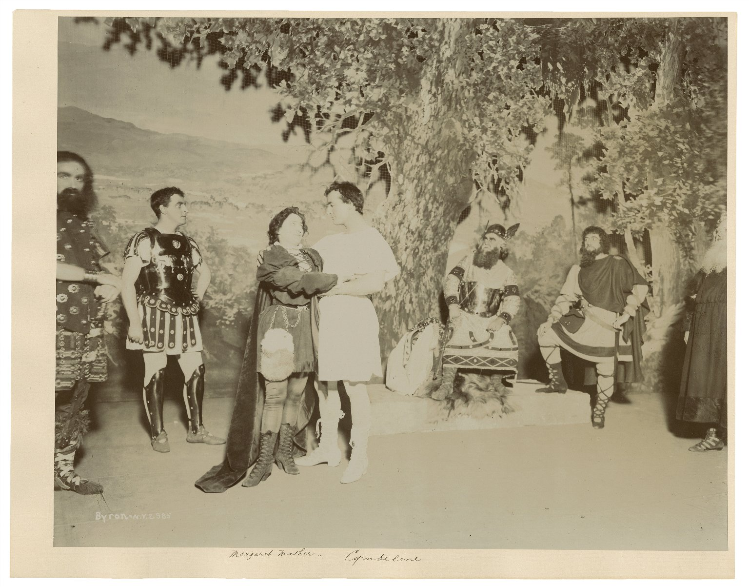 [Three photographs of a production of] Cymbeline [starring] Margaret Mather [performed in 1890] [graphic] / Byron.