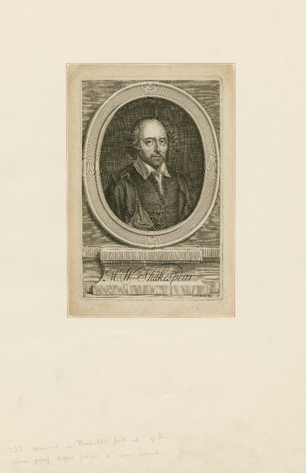 Mr. Wm. Shakespear [graphic] / B. Arlaud, del. ; G. Duchange, scul.
