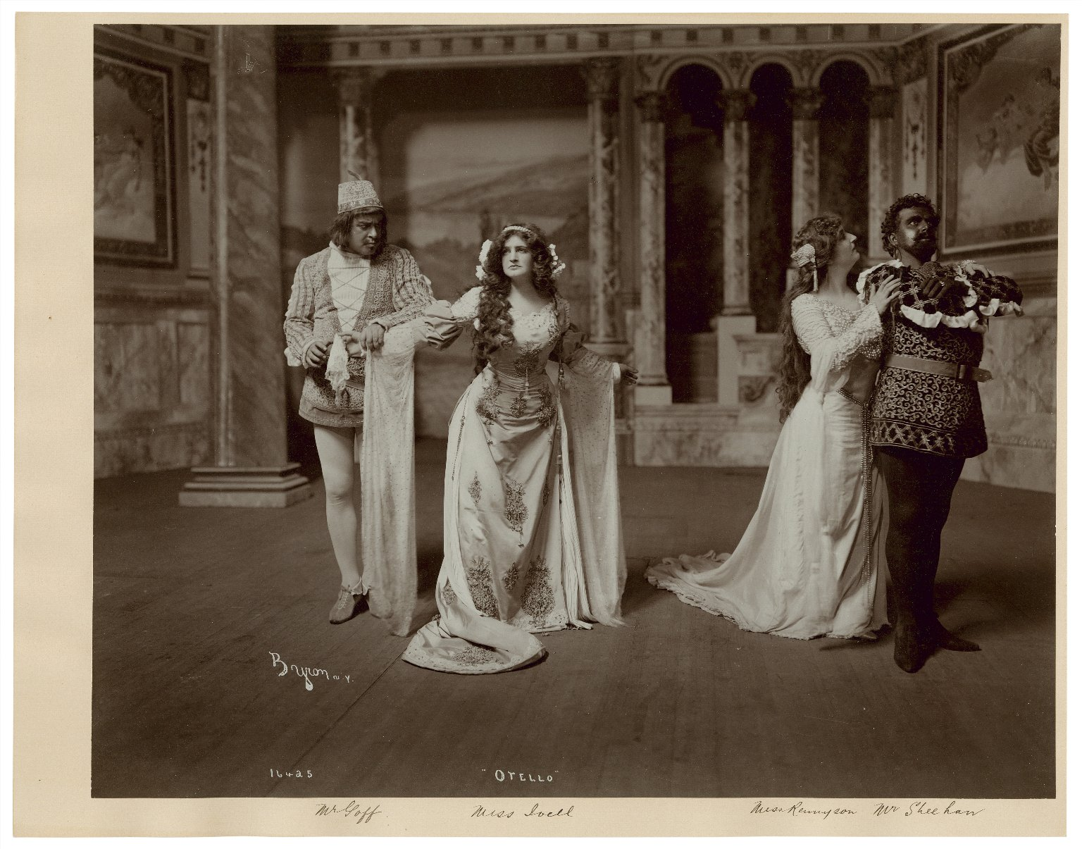 Otello [4 photographs of a production starring Joseph Sheehan as Othello, Gertrude Rennyson as Desdemona, Winfred Goff as Iago, Marion Ivell as Emilia, and Charles Fulton as Cassio] [graphic] / Byron, N.Y.
