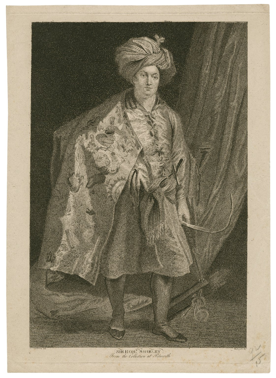 Sir Robt. Shirley : from the collection at Petworth [graphic] / W. Gardiner del. ; [A.] Birrell sc.