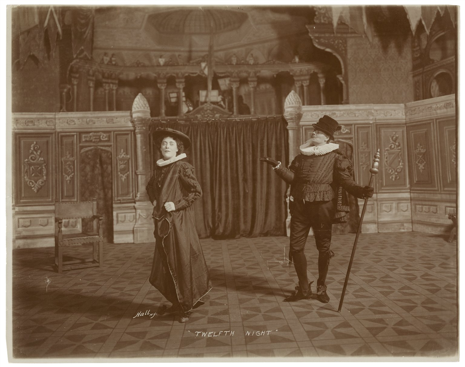 [9 photographs of a production of] Twelfth night [directed by Ben Greet, Knickerbocker Theatre, New York, February 1904] [graphic] / Hall.