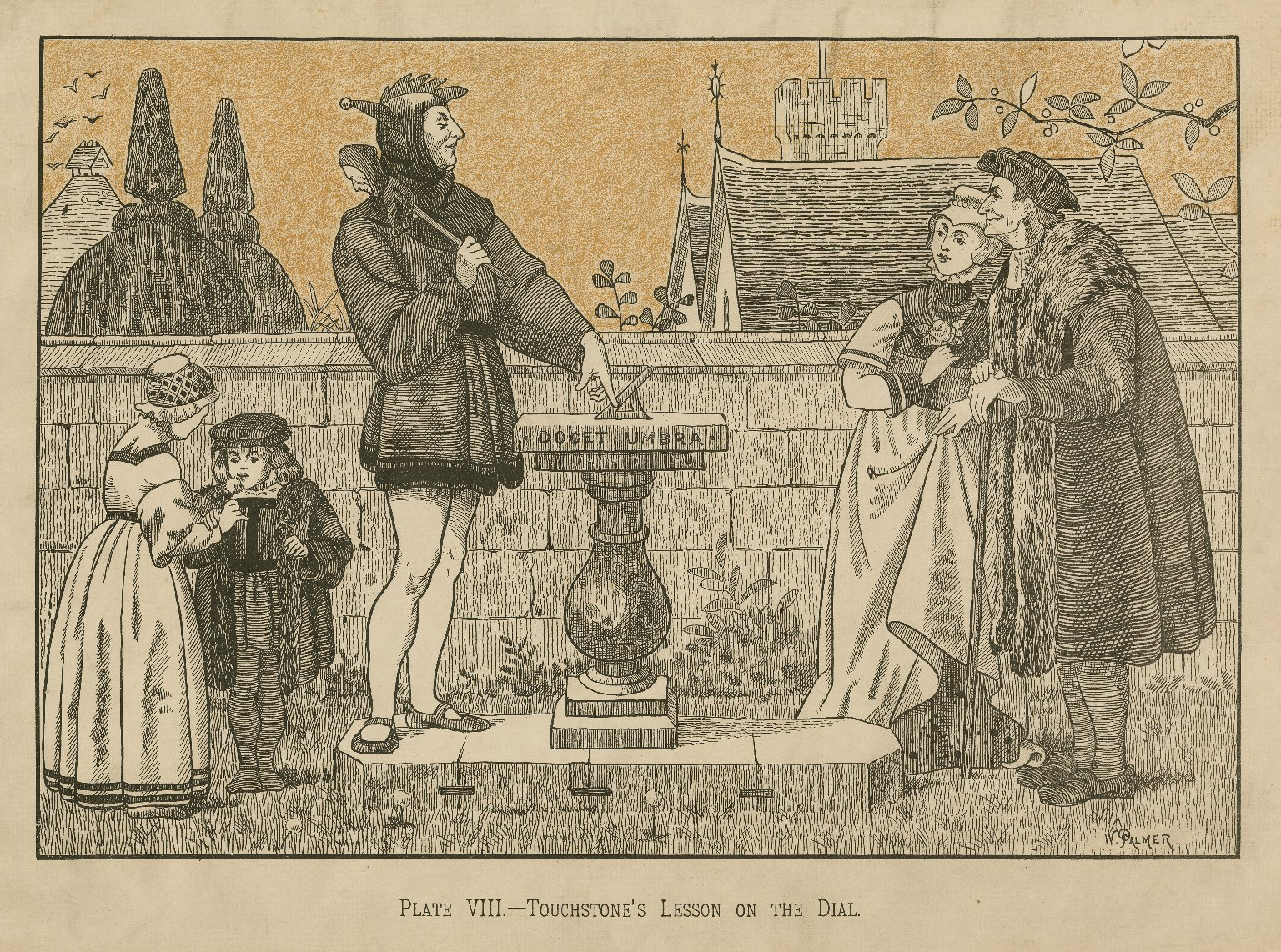 The seven ages of man, [As you like it, II, 7] the infant... a soldier... the justice [graphic] / after original by H. Stacey Marks, R.A. ; W. Palmer.