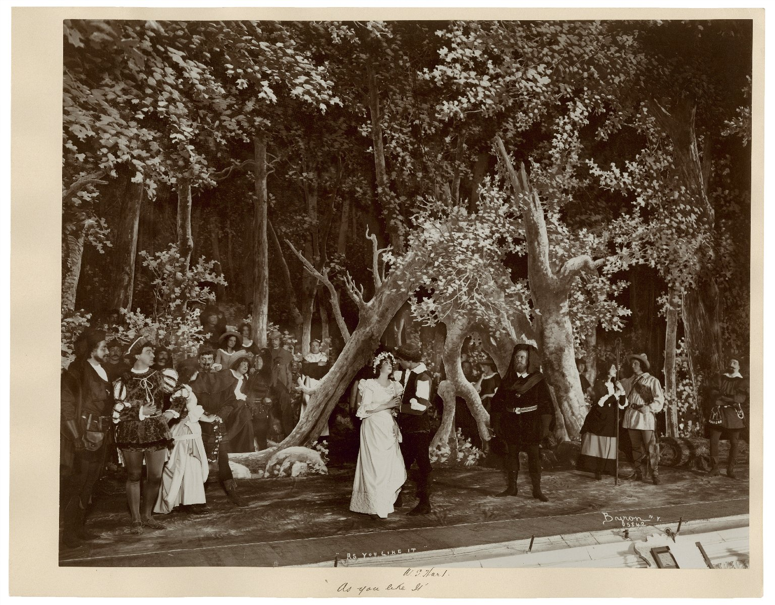As you like it, W.S. Hart, Robt. McWade, Julia Arthur [3 photographs of a production at Wallack's Theatre, New York, 1898] [graphic] / Byron.