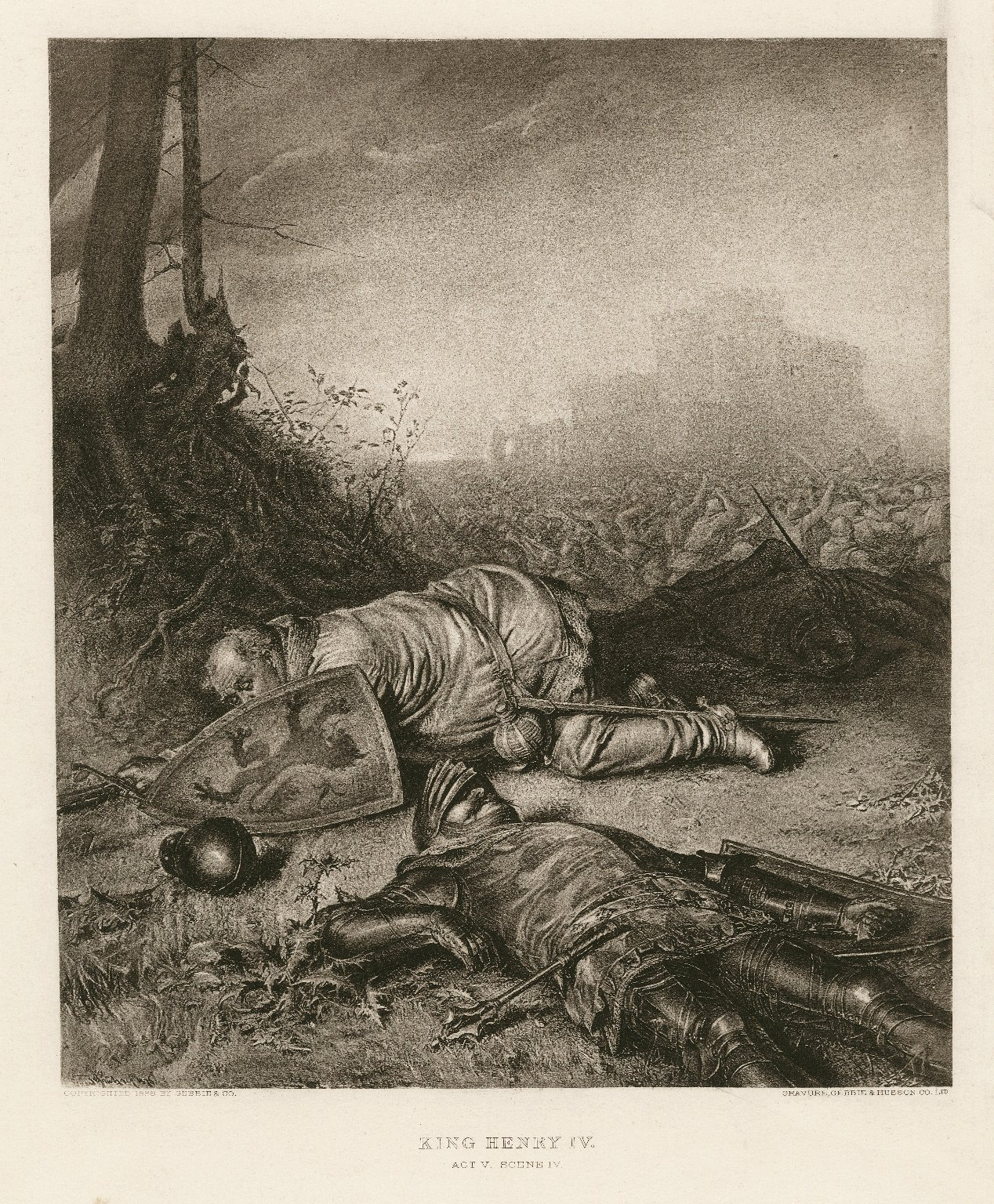 King Henry the fourth, first part, the Battle of Shrewsbury ... [act V, scene 4] [graphic].