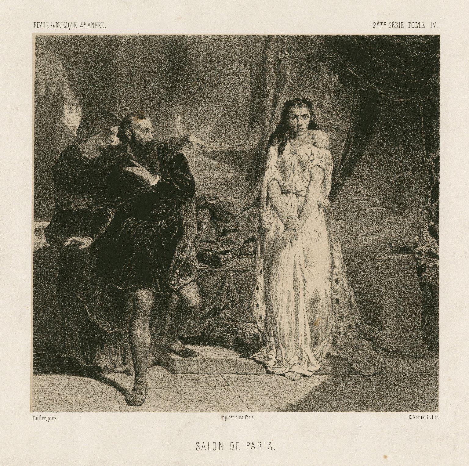 [Lady Macbeth, Macbeth, act V, sc.1] [graphic] / Muller, pinx. ; C. Nanteuil, lith.