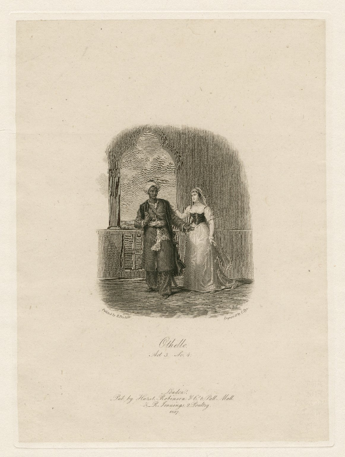 Othello, act III, sc. 4 [graphic] / painted by H. Fradelle ; engraved by C. Pye.