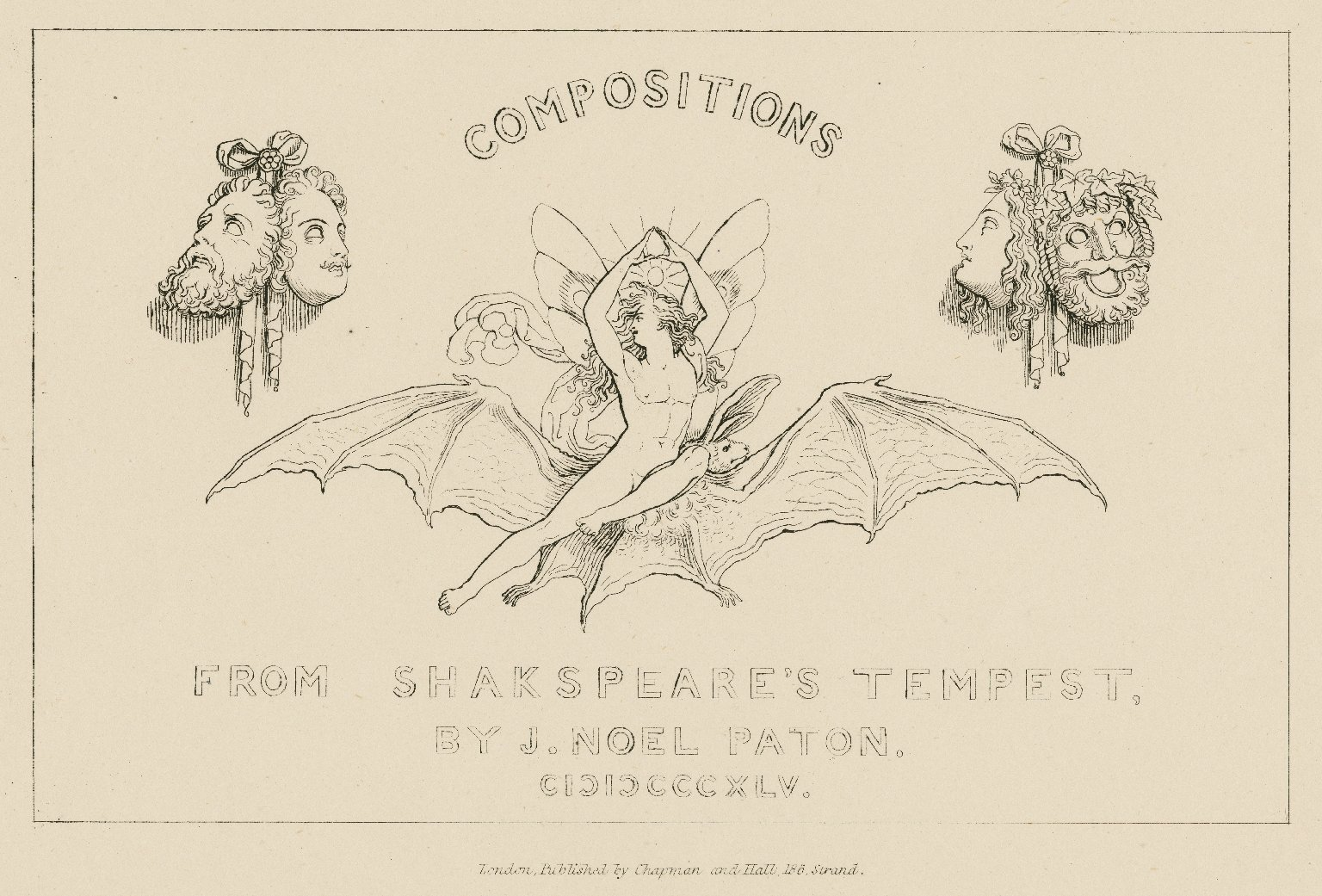 Compositions from Shakespeare's Tempest [a series of engravings] [graphic] / by J. Noel Paton.