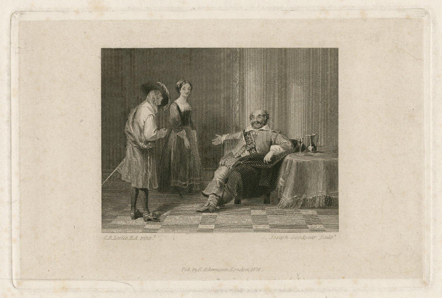 Twelfth night, act I, sc. 3 [graphic] / C. R. Leslie, R.A. pinxt. ; Joseph Goodyear sculpt.