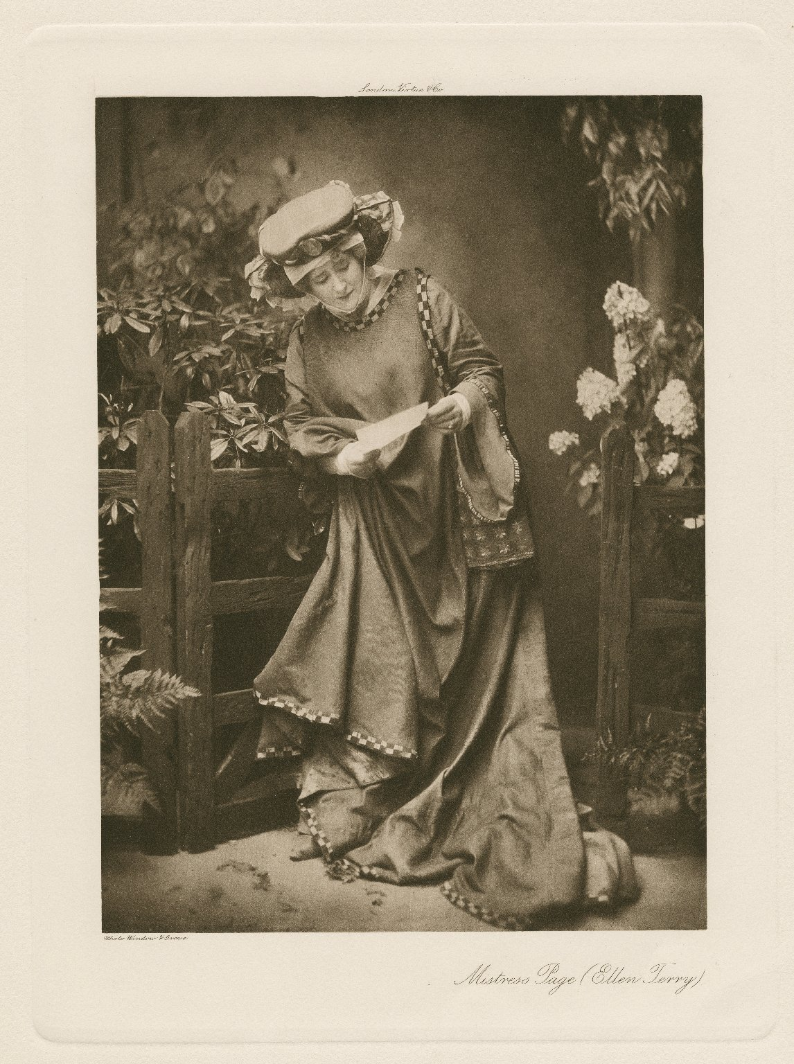 """Miss Ellen Terry as Mistress Page in """"The Merry Wives of Windsor"""" [graphic] / photo, Window & Grove."""