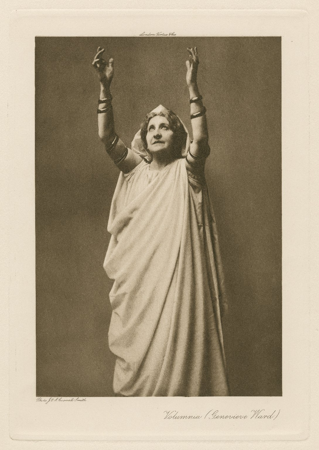 Volumnia (Genevieve Ward) [in Shakespeare's Coriolanus] [graphic] / photo, J. & L. Caswall Smith.
