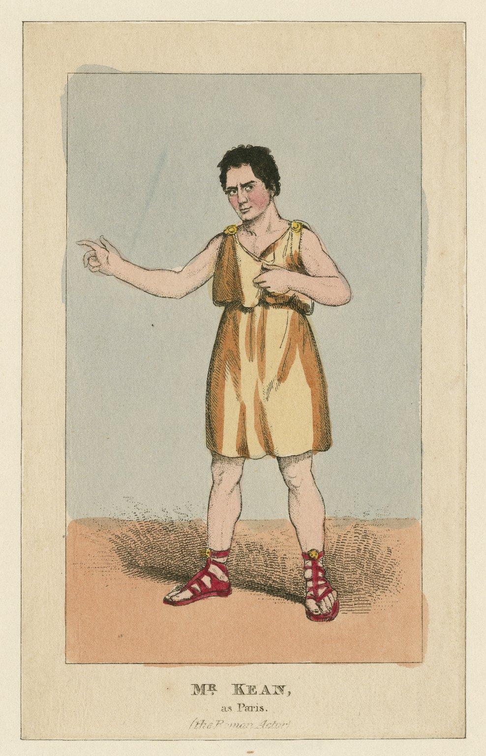 Mr. Kean, as Paris (the Roman actor) [by Massinger] [graphic].
