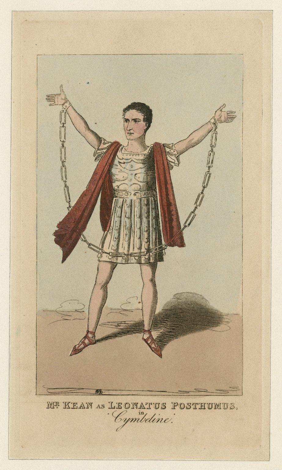 Mr. Kean as Leonatus Posthumus in Cymbeline [by Shakespeare] [graphic] / IRC [fecit].