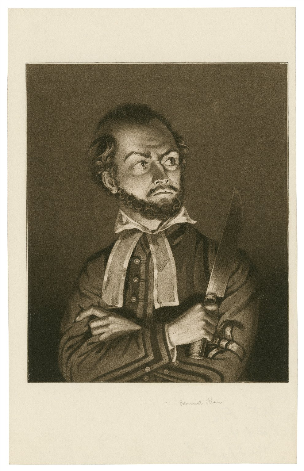 Edmund Kean [as Shylock in Shakespeare's Merchant of Venice] [graphic] / [mezzotint by Meyer after Watts].