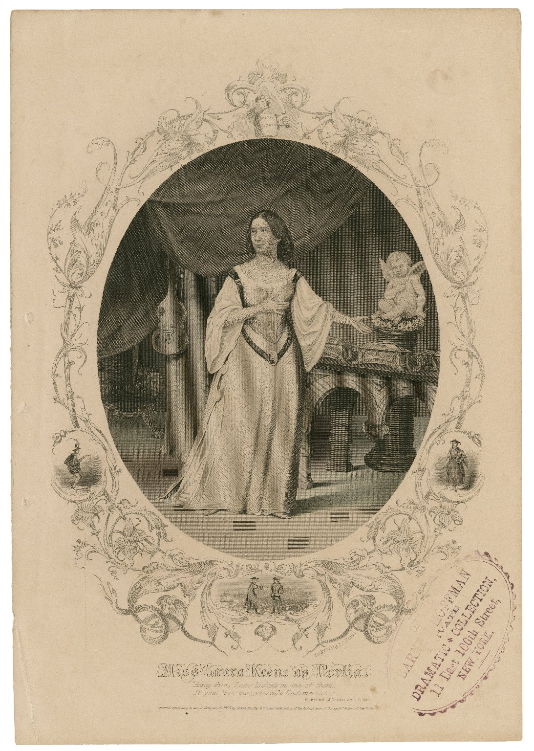 Miss Laura Keene as Portia ... [in Shakespeare's Merchant of Venice] [graphic] / engraved by J.C. Buttre.