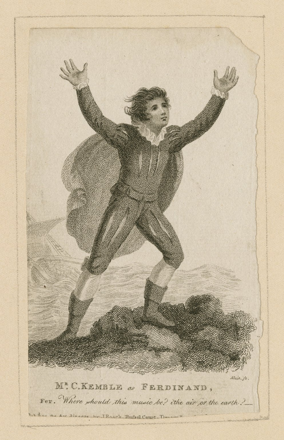 Mr. C. Kemble as Ferdinand... [in Shakespeare's The tempest] [graphic] / Alais, sc.