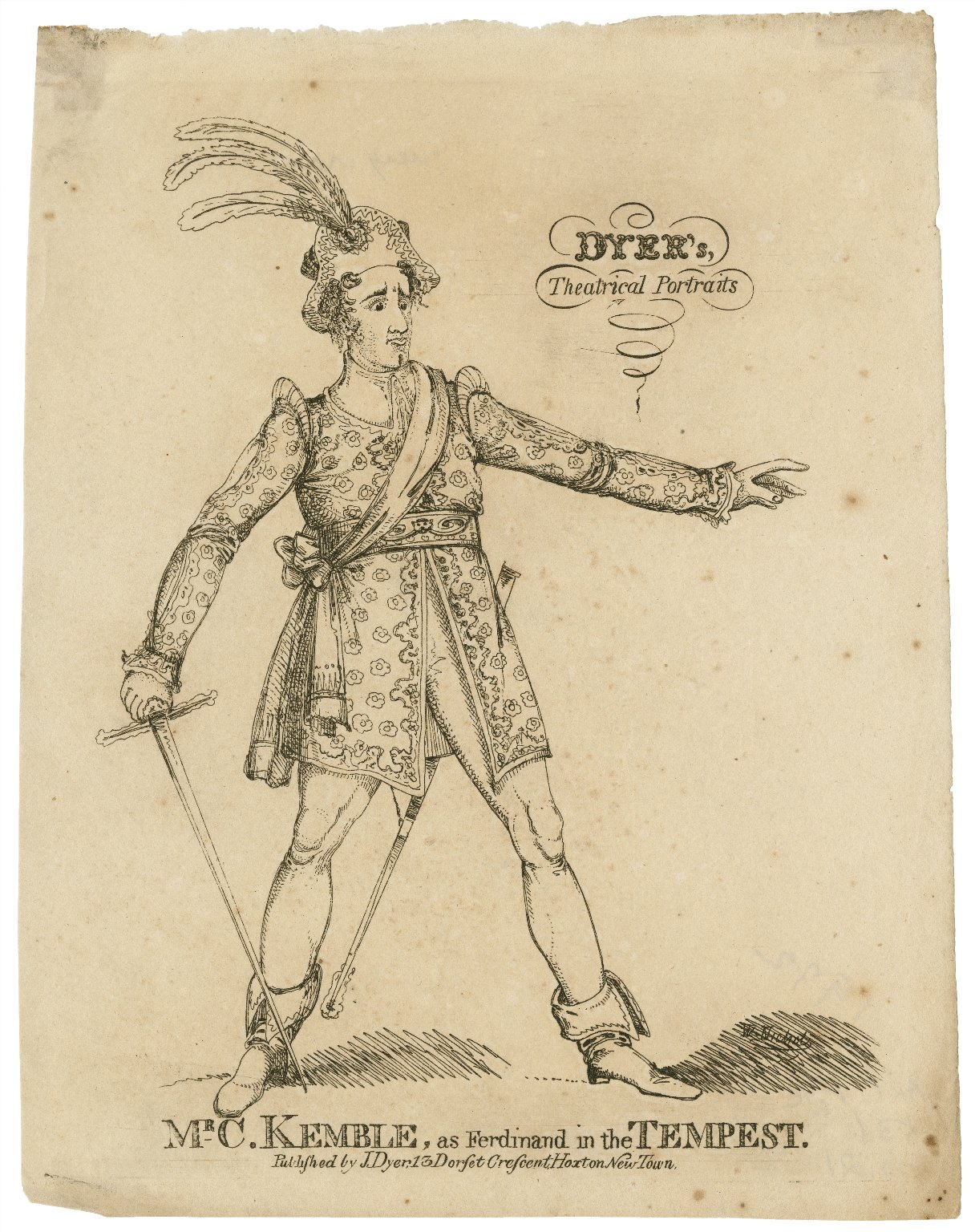 Mr. C. Kemble, as Ferdinand in the Tempest [by Shakespeare] [graphic] / W. Nichols [etch.].