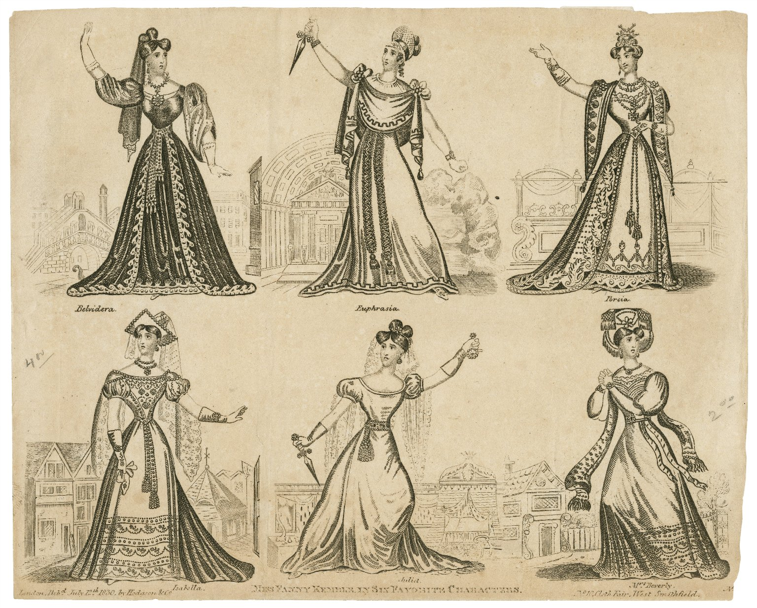 Miss Fanny Kemble in six favorite characters [graphic].