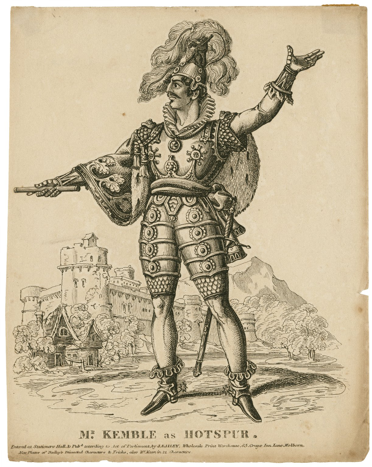 Mr. J. Kemble as Hotspur [in Shakespeare's King Henry IV, pt. 1] [graphic].