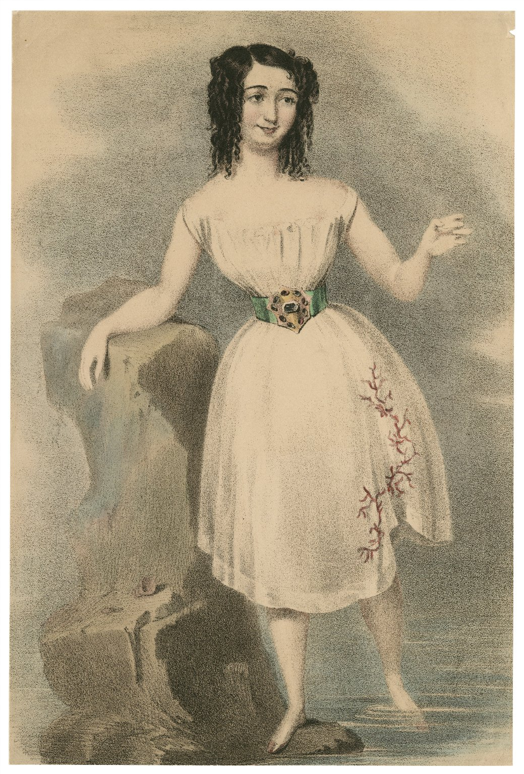 [Helen Faucit, possibly as Miranda in Shakespeare's The tempest] [graphic].