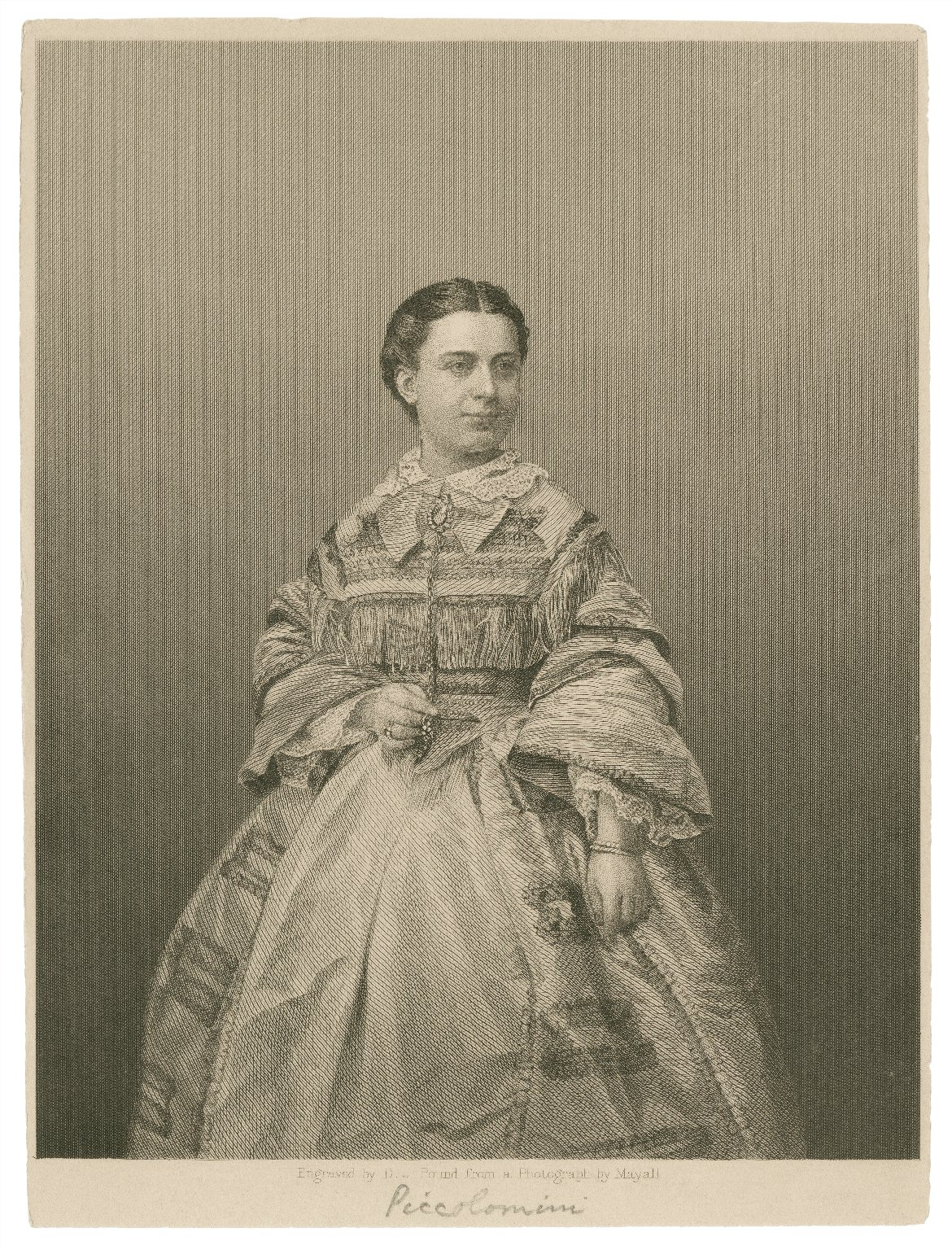 [Maria Piccolomini] [graphic] / engraved by D.J. Pound from a photograph by Mayall.