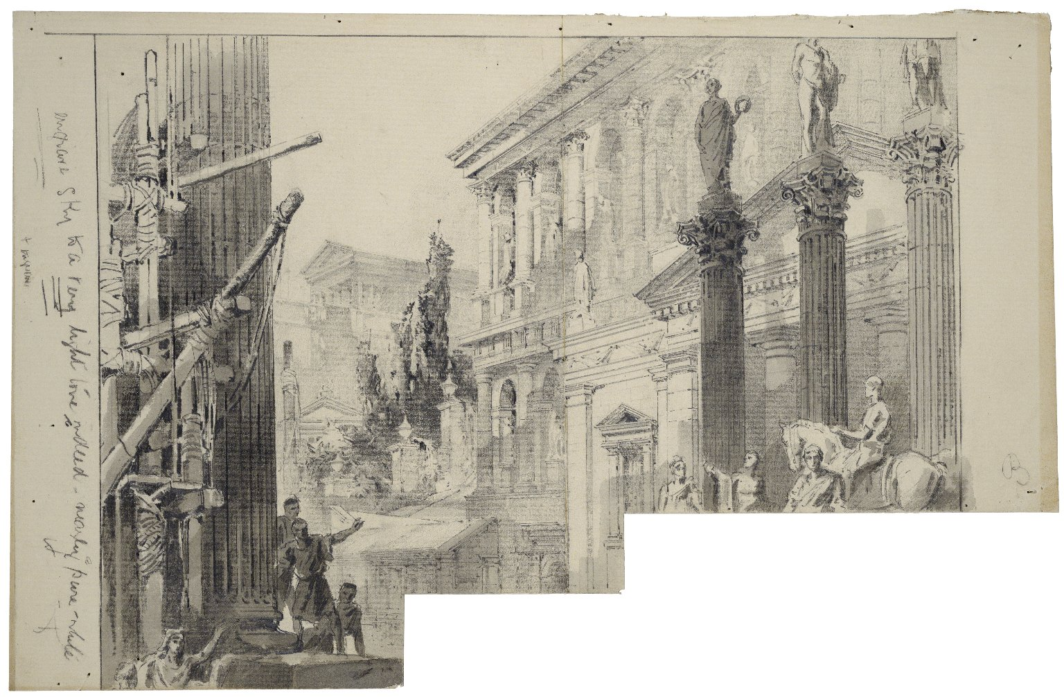 [Stage set for Julius Caesar, used at Her Majesty's Theatre, January 29, 1898] [graphic] / [John Jellicoe].