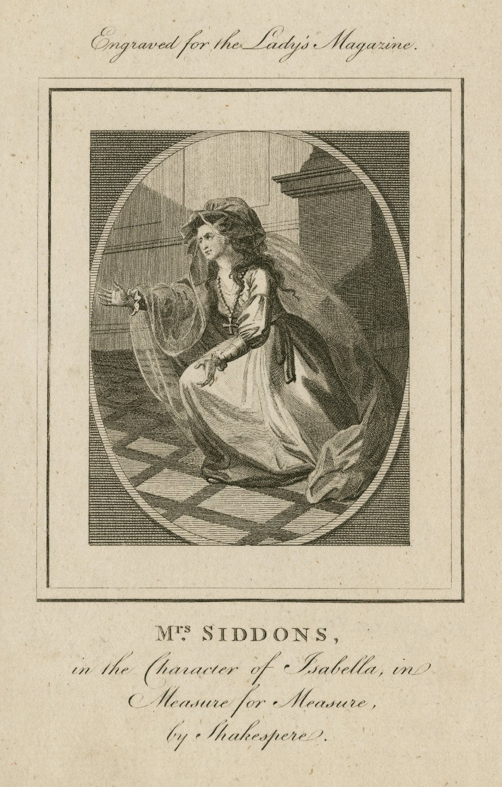 Mrs. Siddons in the character of Isabella, in Measure for measure, by Shakespeare [graphic].