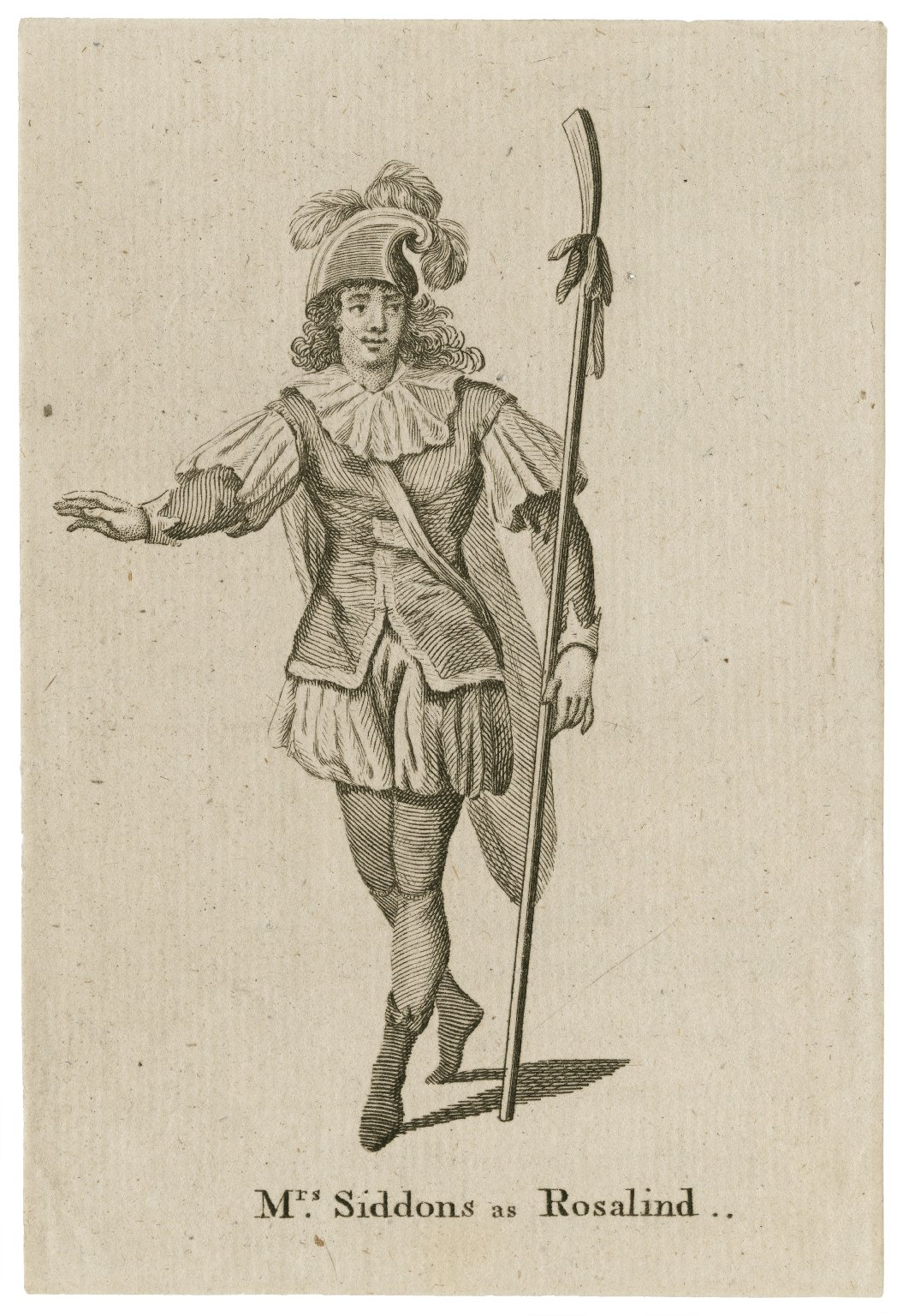 Mrs. Siddons as Rosalind [in Shakespeare's As you like it] [graphic].