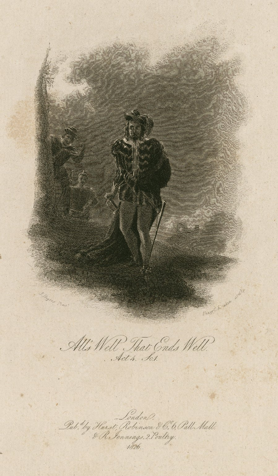All's well that ends well, act 4, sc. 1 [graphic] / J. Hayter pinxt. ; Henry C. Shenton sculp.