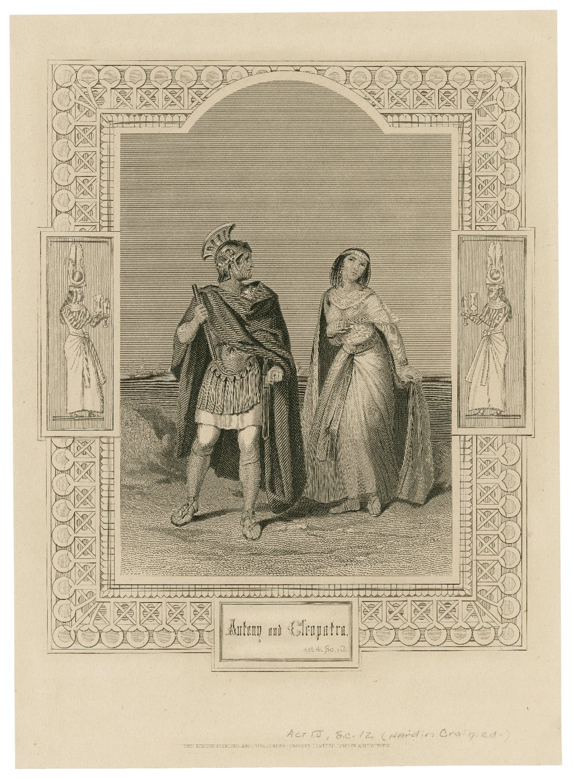 Antony and Cleopatra, act 4, sc. 10 [i.e. 12] [graphic] / [engraved by F.F. Walker, from the original painting by H. Warren].