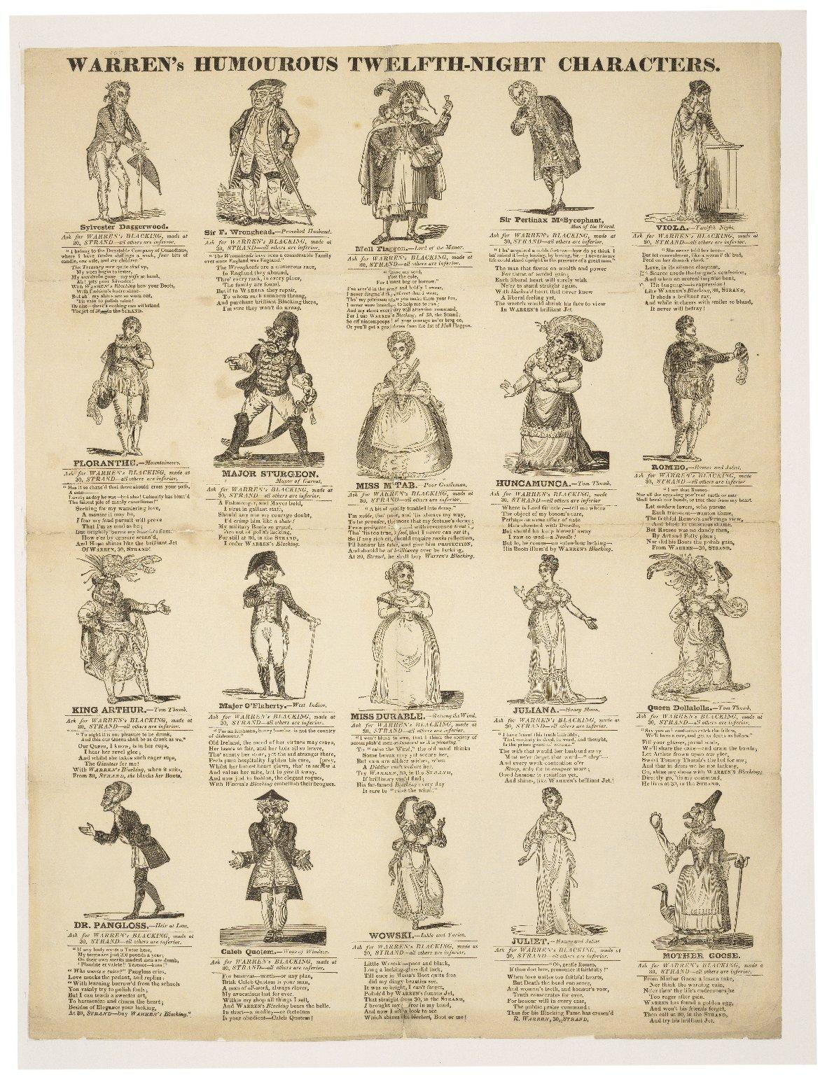 Warren's humourous Twelfth-Night characters [graphic].
