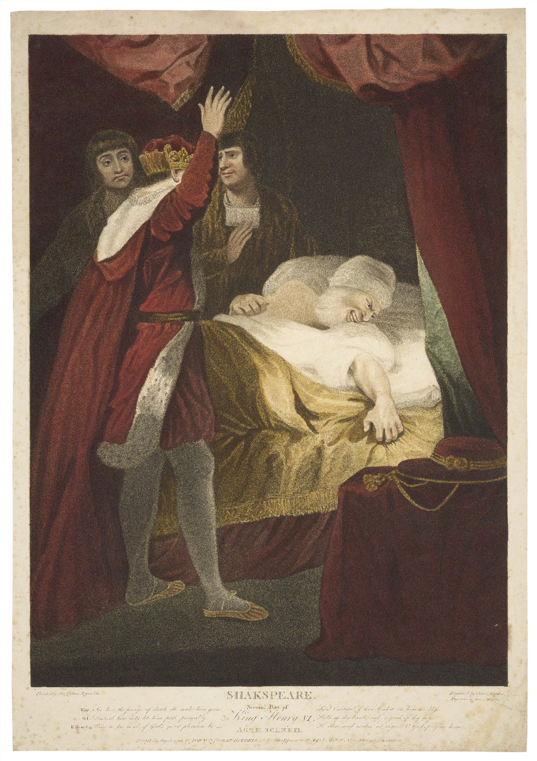 Second part of King Henry VI, act III, scene III ... [graphic] / painted by Sir Joshua Reynolds ; engraved by Caroe. Watson.