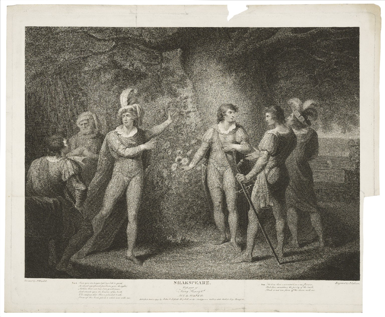 ....First part of King Henry 6th, act II, scene IV... [graphic] / painted by Jh. Boydell ; engrav'd by J. Ogborne.