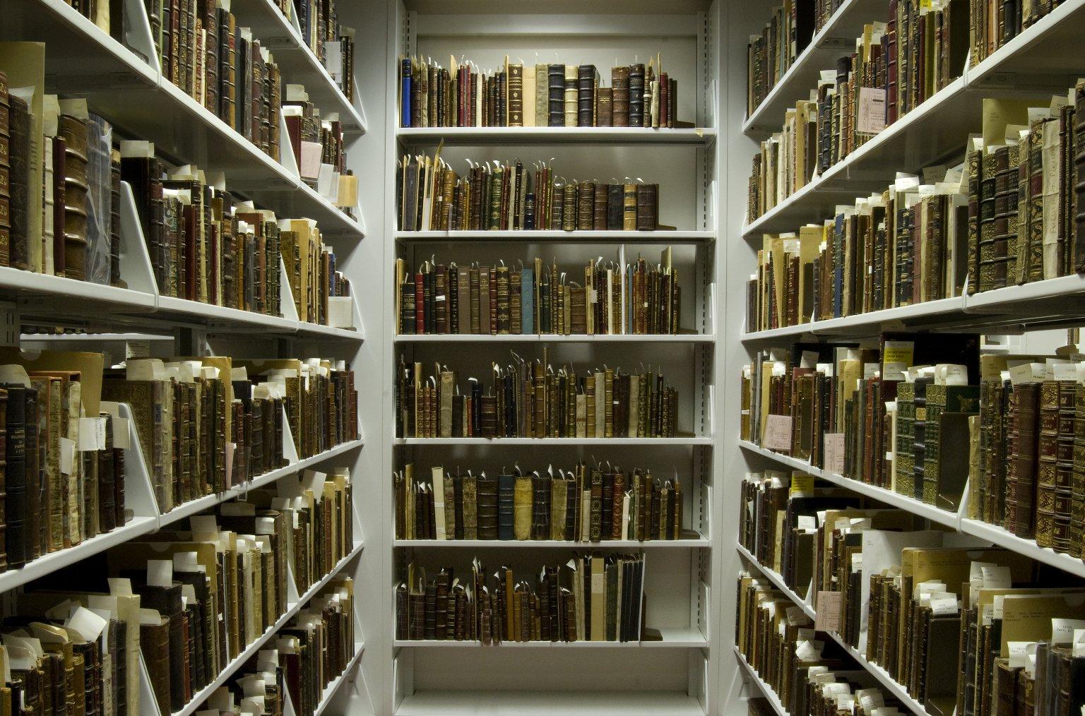 Books in the Folger STC vault