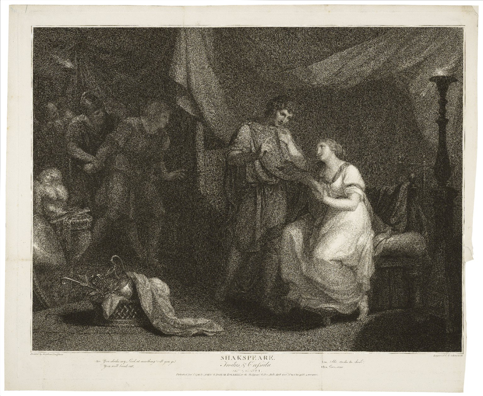 Troilus & Cressida, act V, scene II ... [graphic] / painted by Angelica Kauffman [sic] ; engraved by L. Schiavonetti.