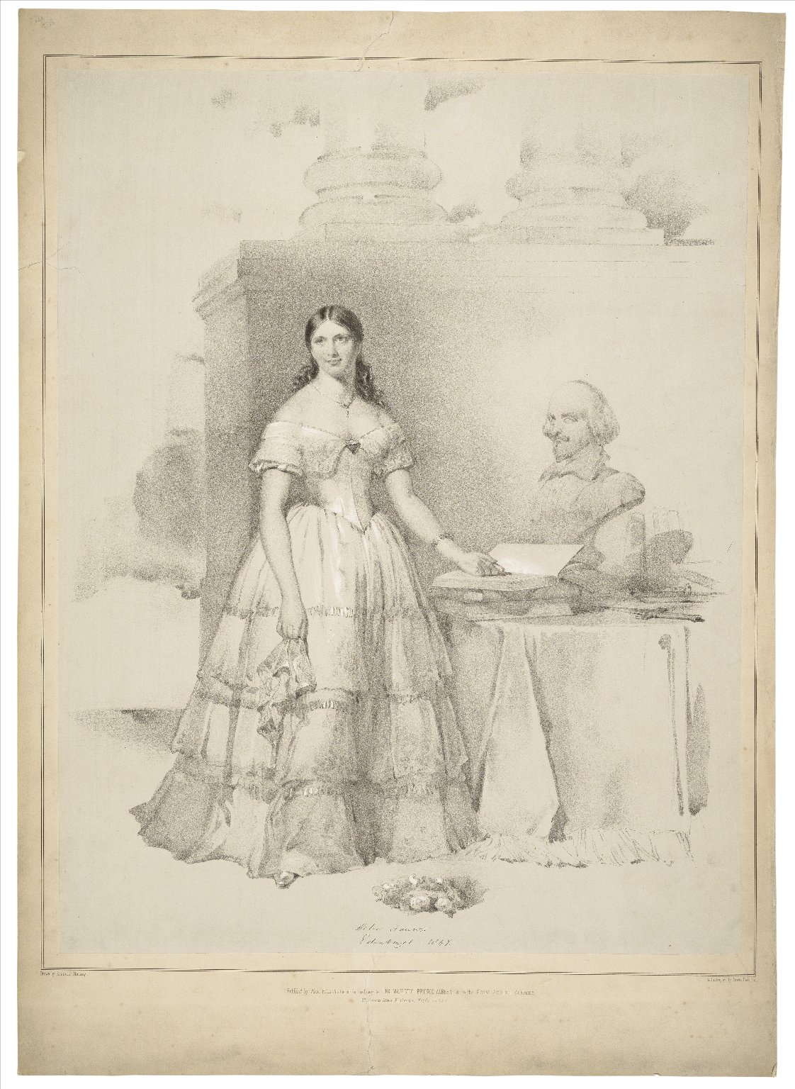 Helen Faucit [graphic] / drawn by Kenneth Macleay ; lithographed by Lowes Dickinson.